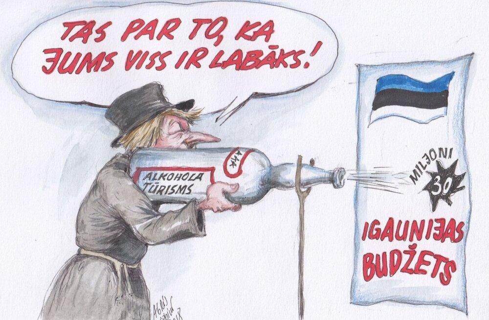 Läti ärileht pilab eestlaste aktsiisilaekumist lõbusa karikatuuriga