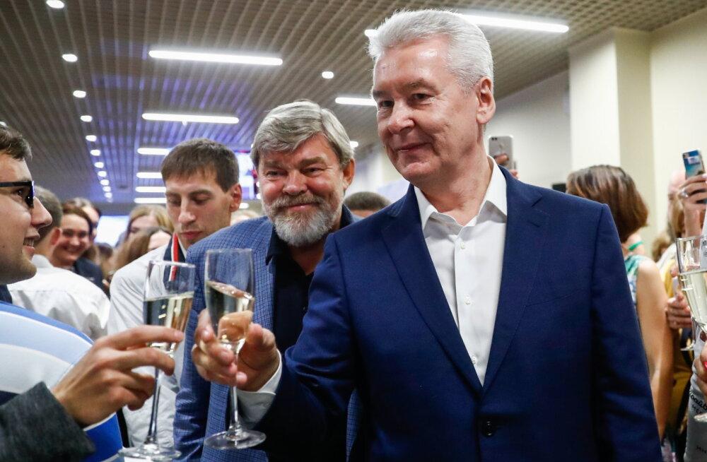 Moskva linnapea valimistel kogus ka seni selles ametis olnud Sergei Sobjanin 70 protsenti häältest