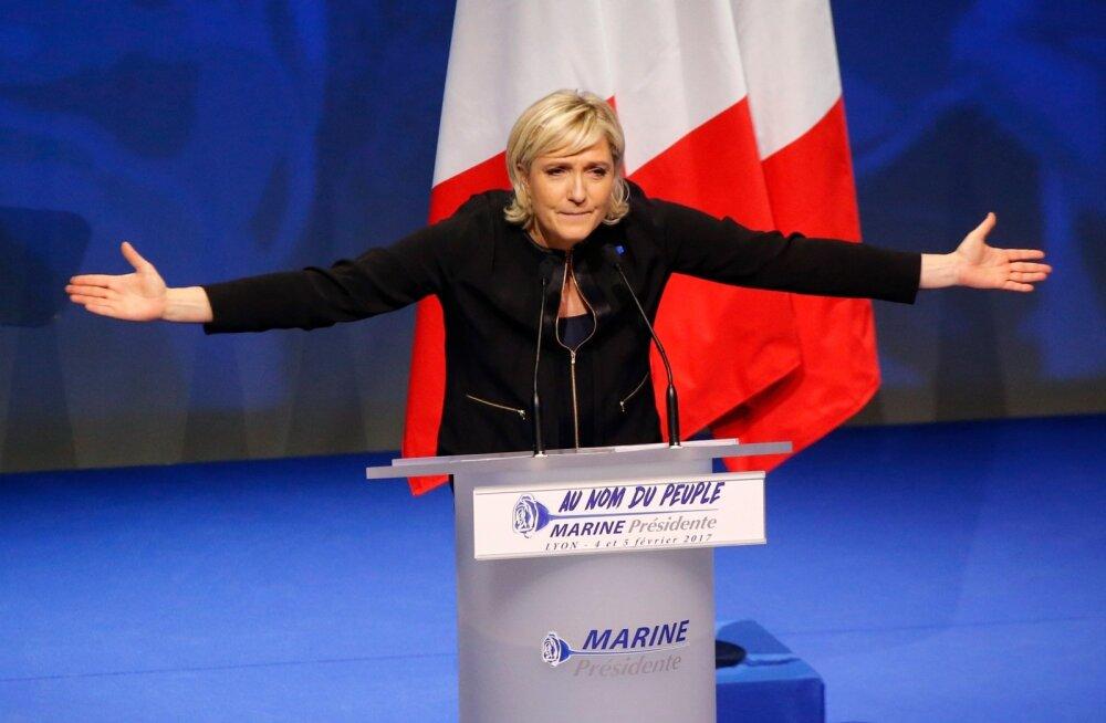 Le Pen sarjas presidendikampaania avakõnes globaliseerumist ja islamifundamentalismi