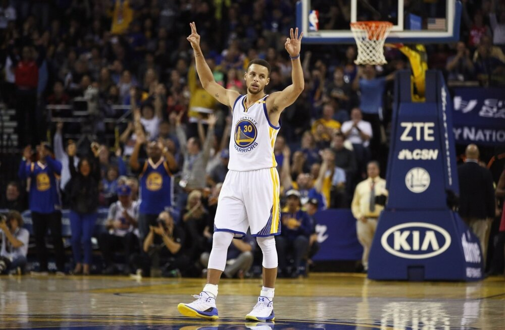 NBA parim kaugviskaja Stephen Curry