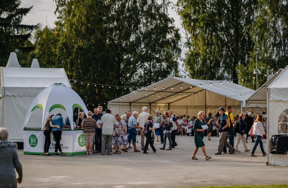Tallinna Hoiu-laenuühistu lauluväljakul korraldatud pidu külastas rohkem kui 700 inimest