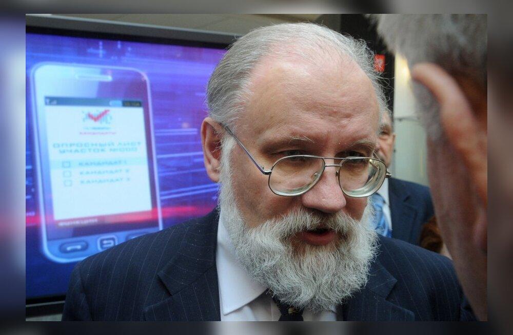 """Чуров прилетел в лагерь """"Селигер"""" на воздушном шаре"""