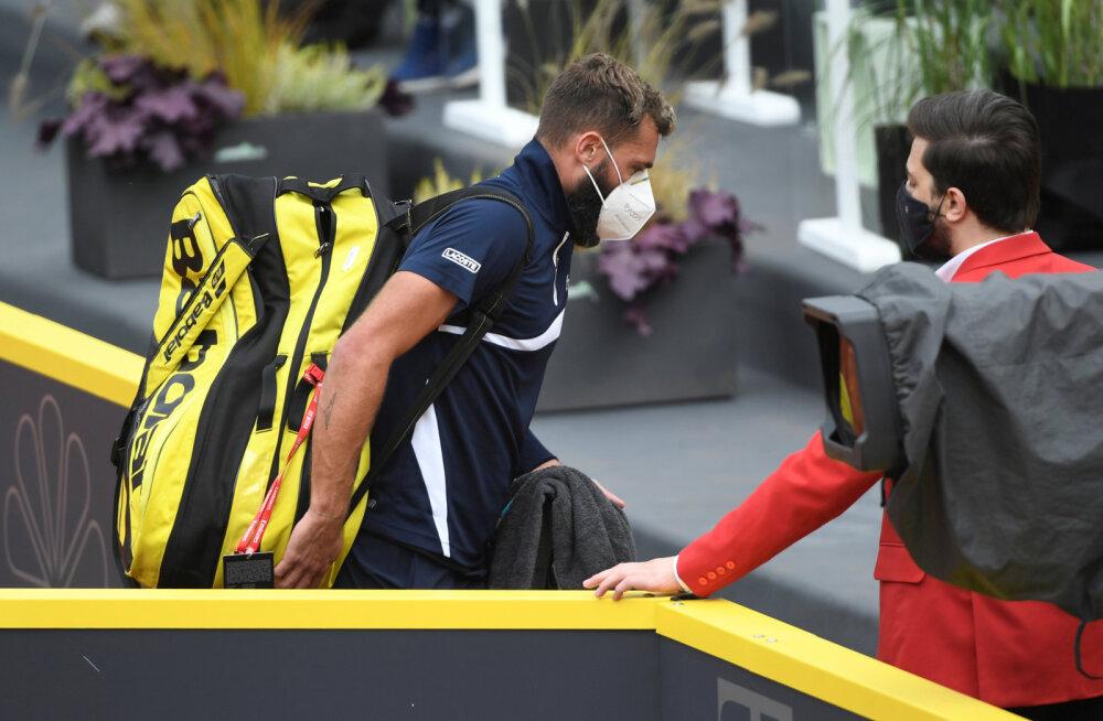 Prantsuse tipptennisist mängis positiivsest koroonaproovist hoolimata Hamburgi turniiril