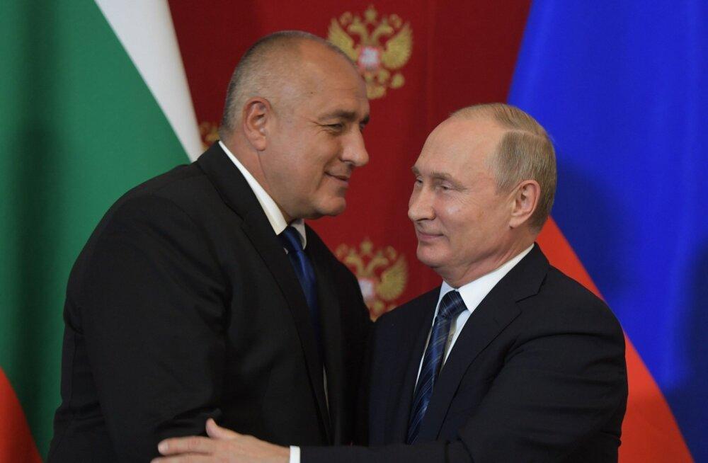 Bojko Borisov (vasakul) naljatas kohtumisel, et on Putinile väiksema venna eest.