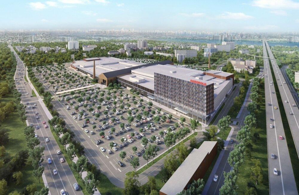 ФОТО и ВИДЕО: Как в Риге строят гигантский торговый центр Akropole