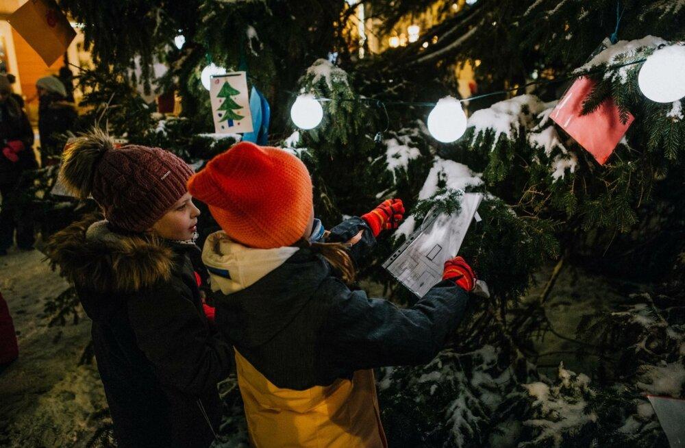 Tartu jõulutulede süütamine