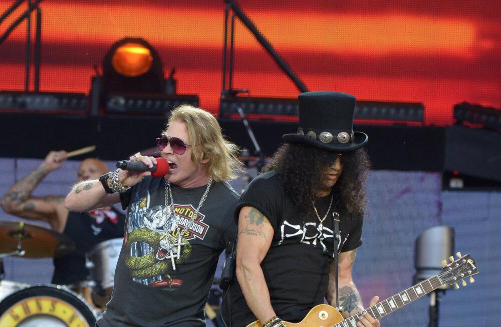 ROKISÕBER, RÕÕMUSTA: Legendaarne Guns N' Roses esineb järgmisel suvel Tallinnas!
