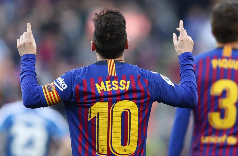 VIDEO | Messi väravad tõid Barcelonale derbimängus võidu, Atletico purustas tabeli viienda