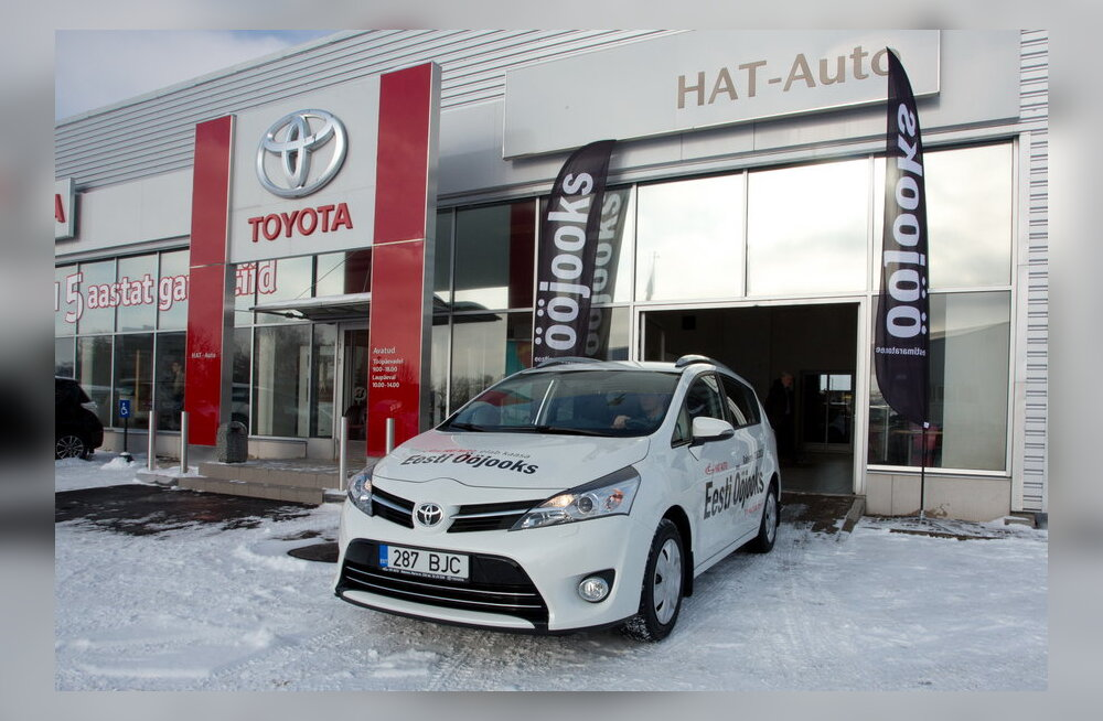 Ööjooks sai Hat-Autolt uhiuue Toyota Verso