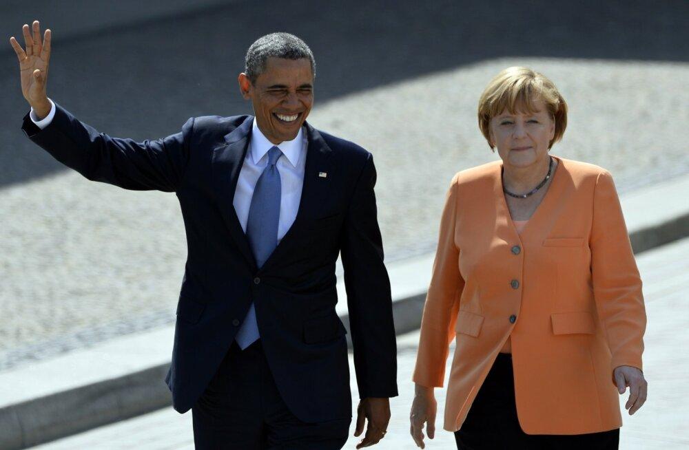 """Obama kiitis Merkeli """"tõelisi poliitilisi ja moraalseid juhiomadusi"""""""