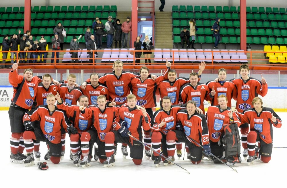 Jäähokki Narva PSK vs Viru Sputnik 27.02.2016