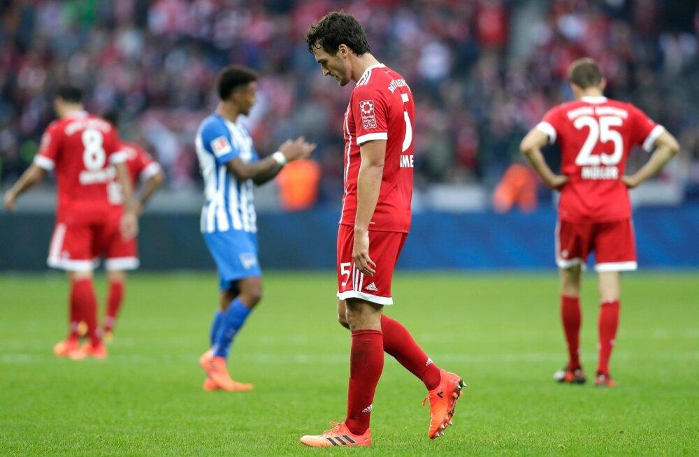 Müncheni Bayern pidi kohtumises Berliini Herthaga leppima viigiga.