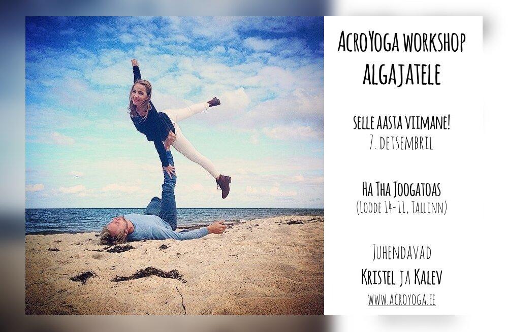 Liikumisaasta: AcroYoga workshop algajatele Tallinnas juba sel pühapäeval