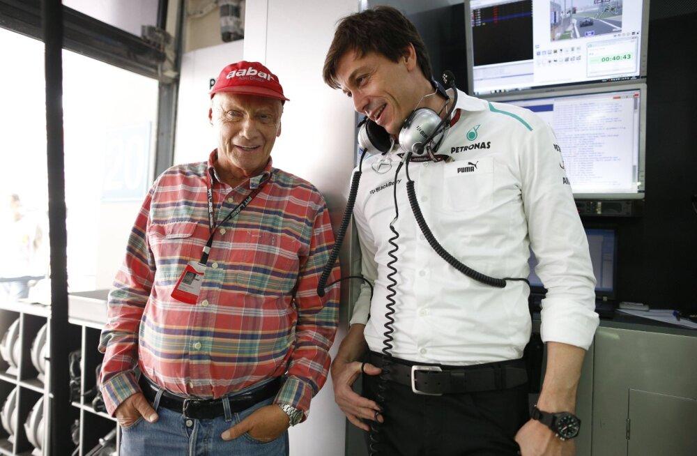 Mercedese boss pühendas MM-tiitli Niki Laudale