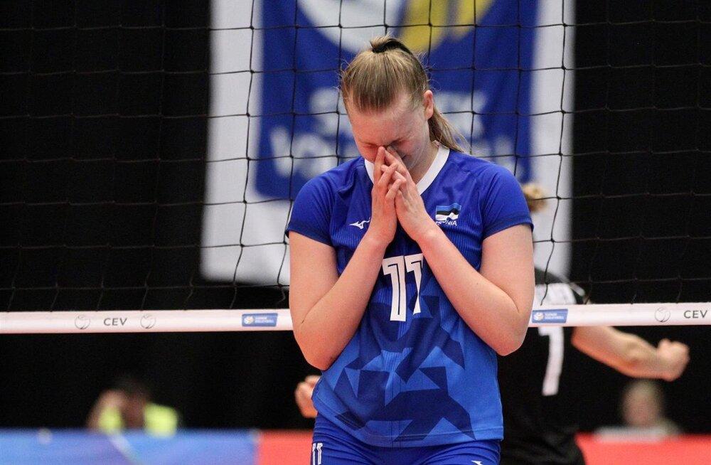 Kooliraha maksmine: Eesti võrkpallinaiskond põles läbi ja kaotas Hõbeliiga poolfinaalis