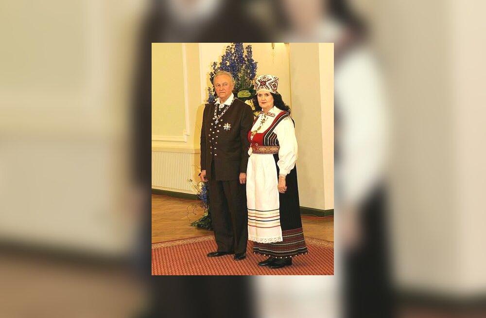 Presidendipaar 2006. Iseseisvuspäeva vastuvõtul