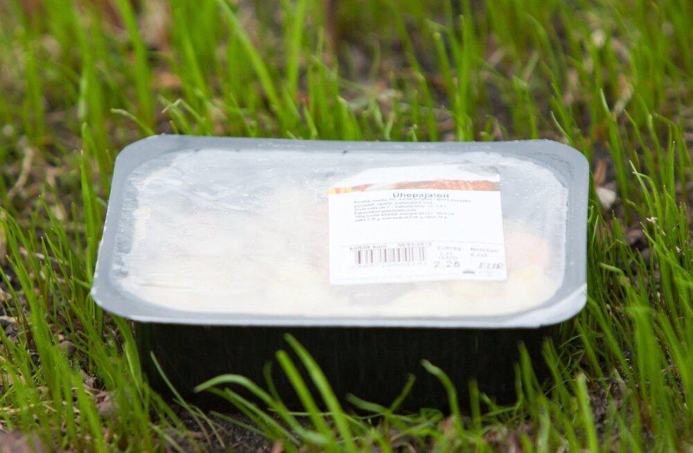 Plastpakend. Foto on illustratiivne