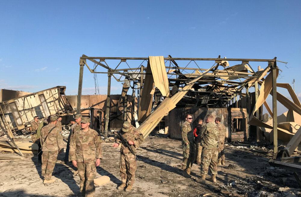USA sõdurid said Iraani raketirünnakus Iraagis siiski viga, kuigi Pentagon teatas alguses, et ohvreid ei olnud