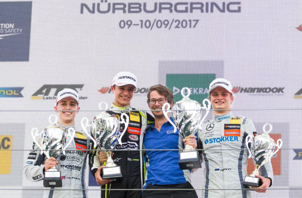 Ralf Aron pääses F3 etapil Nürburgringil poodiumile