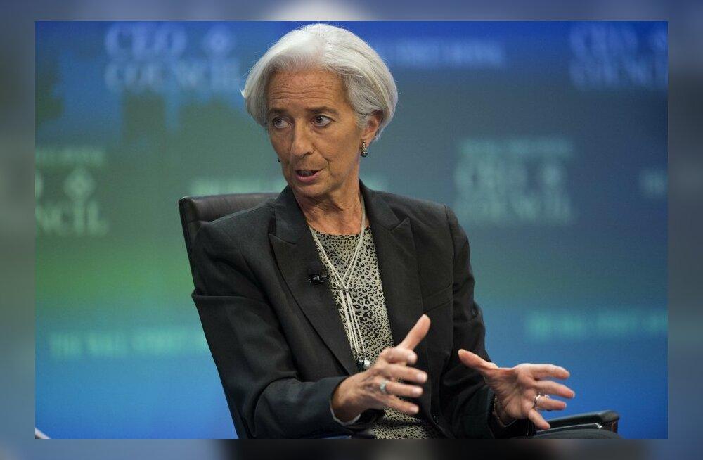 IMFi tegevdirektor Christine Lagarde Wall Street Journali konverentsil rääkimas.