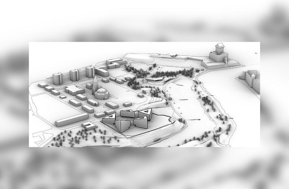 ЭСКИЗЫ: В Нарве на месте бывшей 7-й школы построят трехугольные шестиэтажки