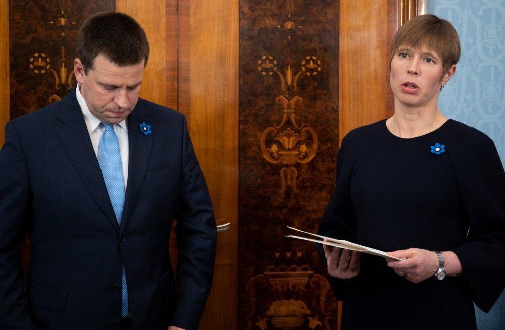 Президент Кальюлайд советовала премьеру Ратасу освободить Хельме от должности
