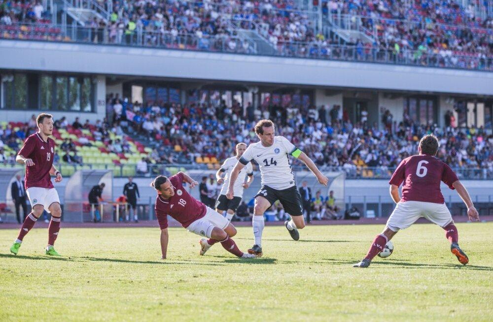 Läti koondise viimase kahe aasta ainus võit saadi just Eesti üle, suvisel Balti turniiril jäime neile võõrsil 0 : 1 alla.