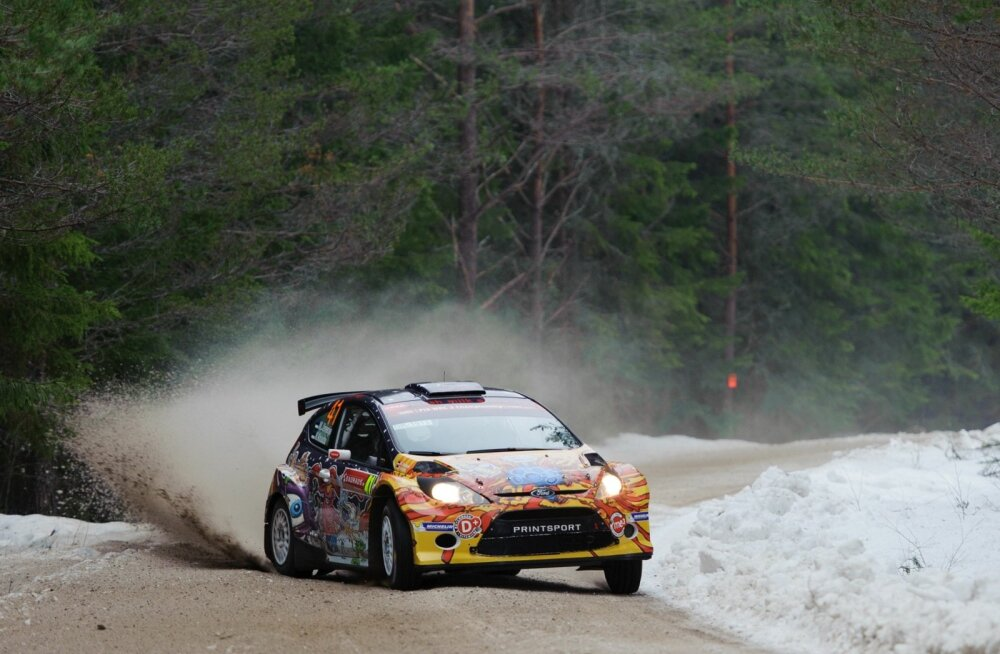 Karl Kruuda võitis 2014. aastal WRC2 arvestuses Rootsi talveralli.