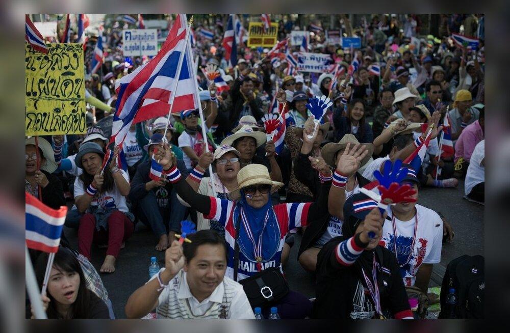 Tai meeleavaldajad marssisid valitsushoonete juurde