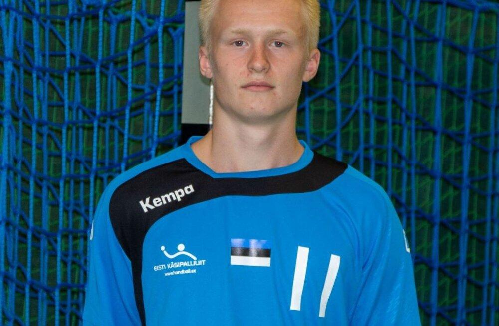 Viljandi käsipalli kasvandik Aleksander Pertelson on U17 EM-il seni Eesti parim snaiper 13 väravaga.