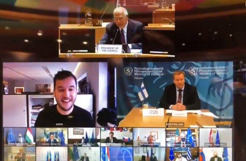 VIDEO   Hollandi ajakirjanik pääses Euroopa kaitseministrite salajasele videokonverentsile