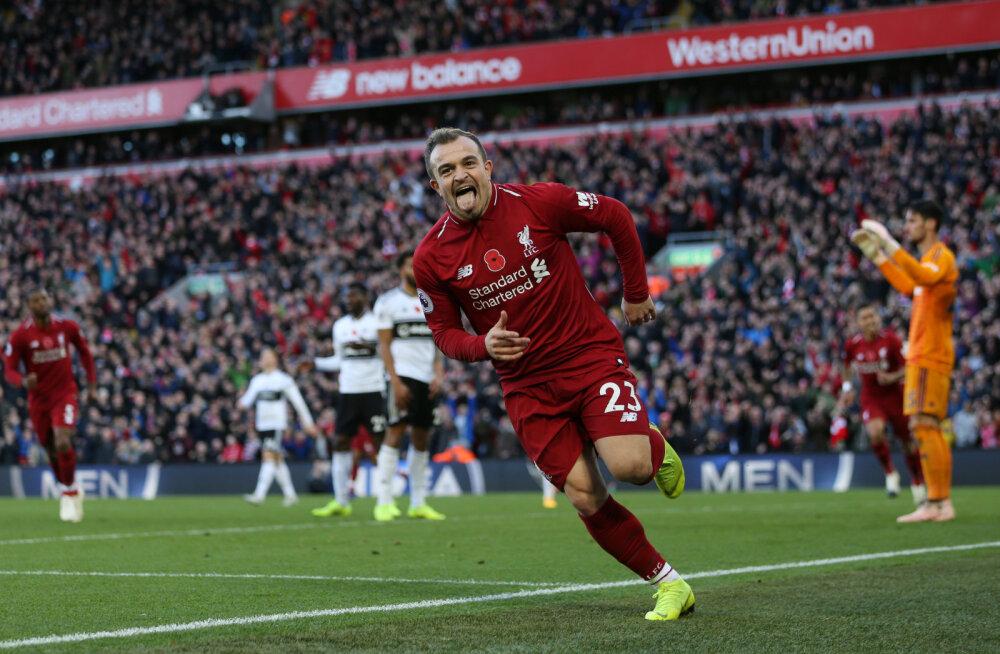 VIDEO | Liverpool pikendas Fulhami kurba seeriat ja tõusis liiga liidriks