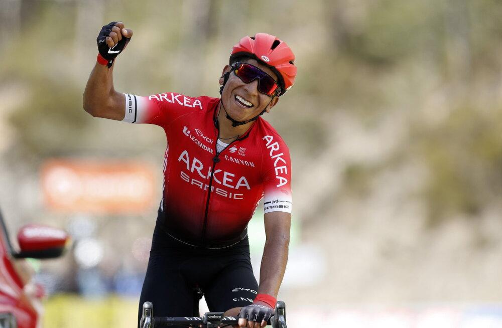 Jalgrattatäht Nairo Quintana jäi treeningul auto alla