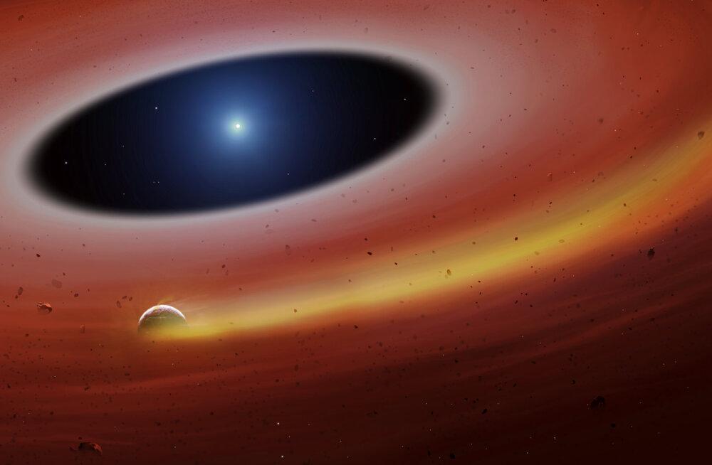 Sureva tähe ümber tiirlev planeedikild peegeldab tõenäoliselt Maa tulevikku