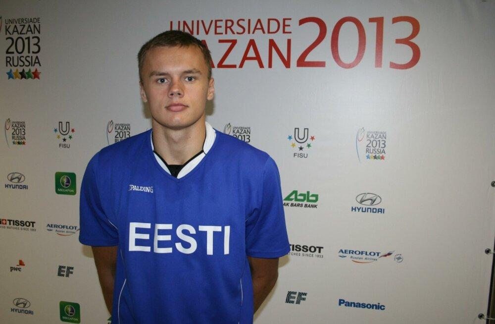 Universiaadi korvpallikoondise liige Jaan Puidet