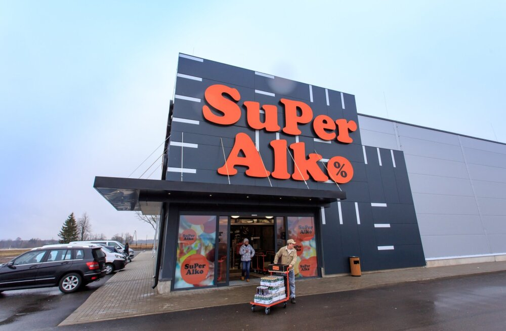 Ainaži SuperAlko kauplus.