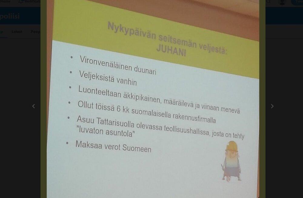 """Soome politsei iseloomustas probleemseid välismaalasi: """"eestivene töömees, kes elab ebaseaduslikus ühiselamus, on äkiline ja viinavõtja"""""""