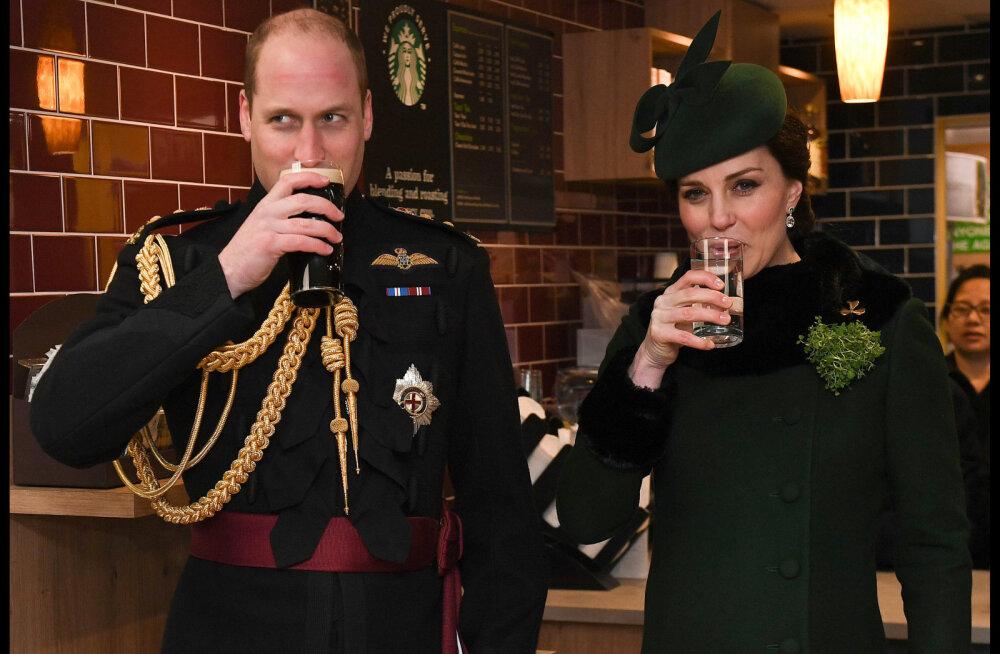 FOTO | Püha Patricku päeva tähistamine: prints William rüüpas õlut, viimast kuud rase Kate vett