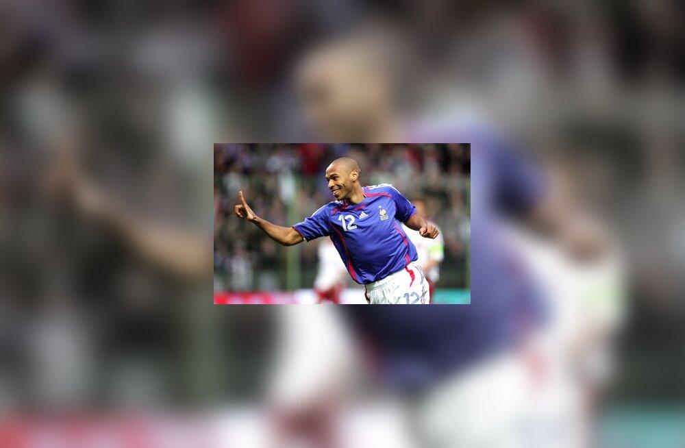 Prantsusmaa jalgpallikoondise ründaja Thierry Henry