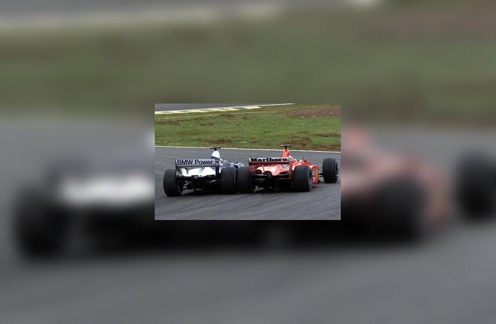 Montoya ja Schumacher