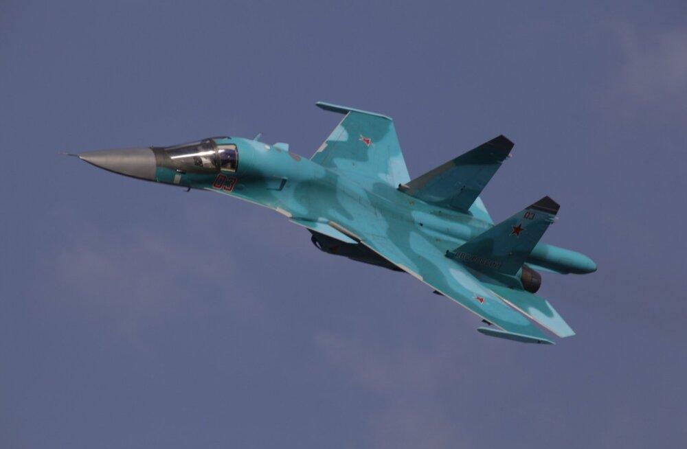 Venemaa Kaug-Idas põrkasid kokku kaks ründelennukit Su-34