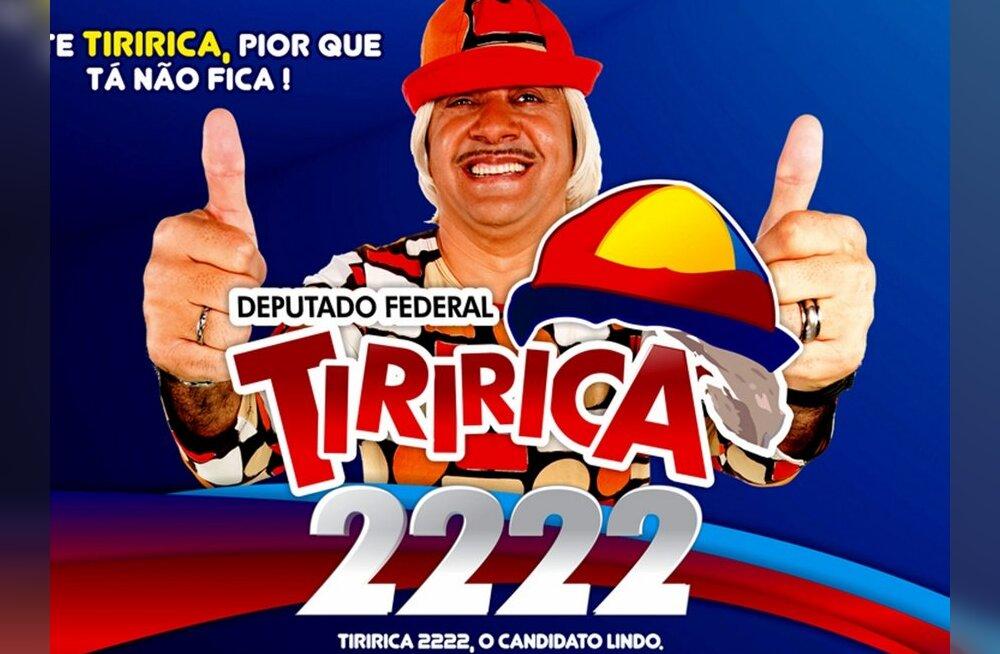 Brasiilia valimistel sai enim hääli kirjaoskamatu telekloun?