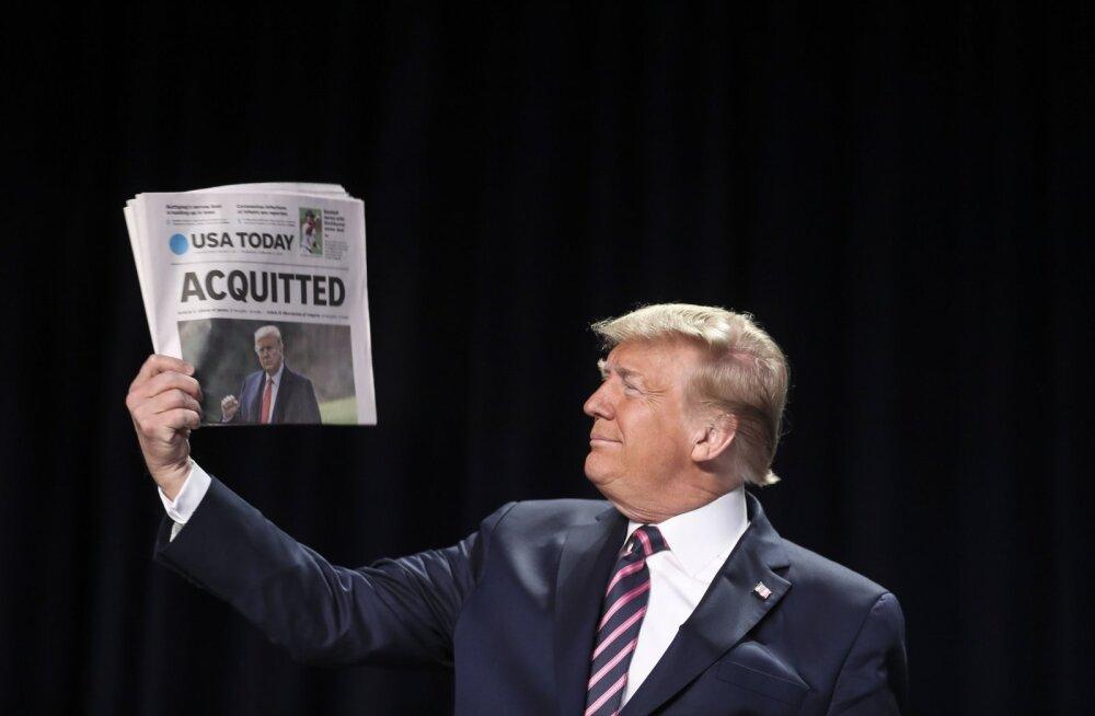 Õigeksmõistmise üle juubeldav Trump nimetas oma vastaseid rämpsuks ja räpakottideks