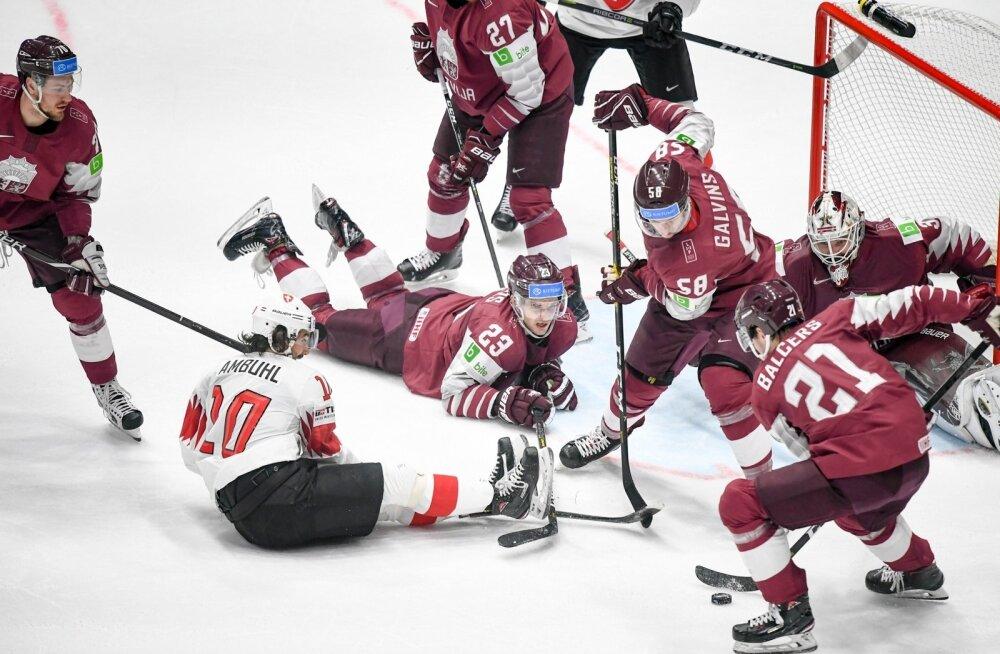 Läti (tumepunases) jäi Šveitsile alla.