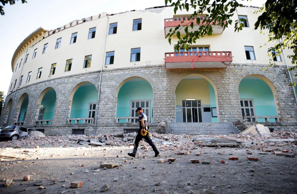 Maavärinast taastuvas Albaanias viibiva Eesti noortekoondisega on kõik korras