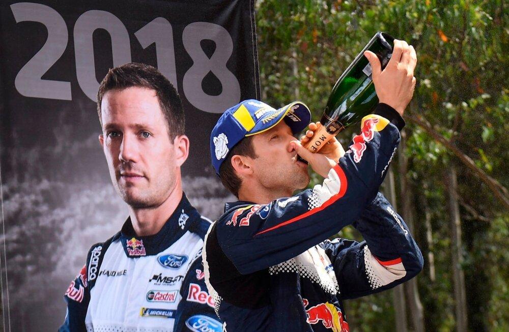 Sébastien Ogier kummutab kuuendat korda maailmameistrina võidušampanjat.