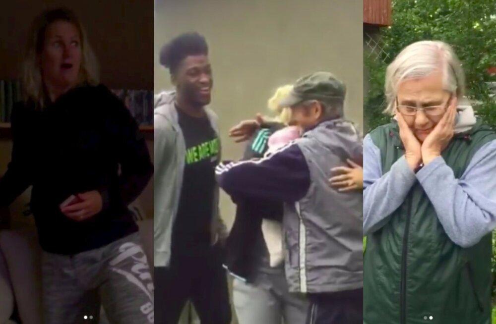 VIDEOD | Pisarateni liigutav! Orkaan Irma eest pakku läinud Grete Šadeiko tegi perekonnale üllatusvisiidi