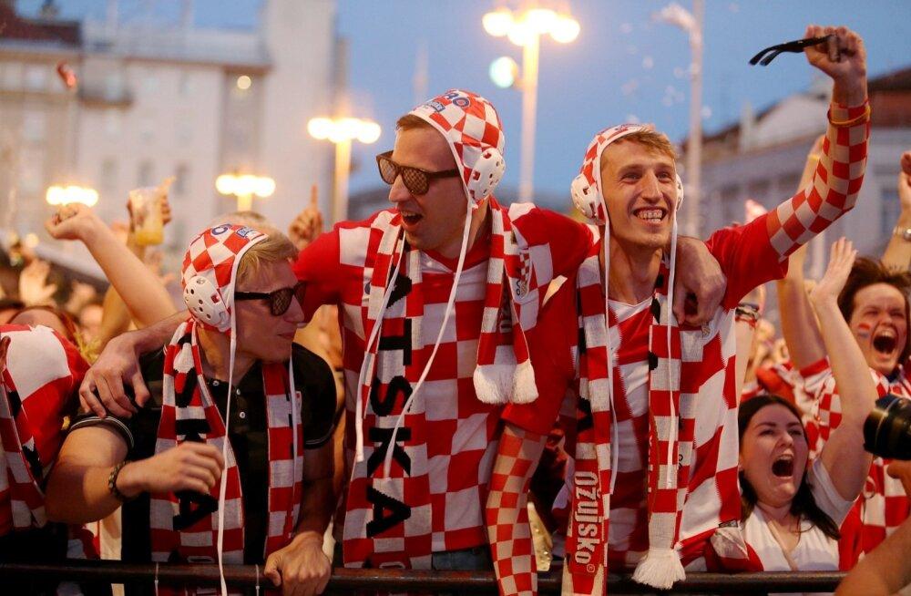 Horvaatia koondise poolehoidjatel on seni olnud pidutsemiseks kõvasti põhjust - kolmest mängust on saadud kolm võitu.
