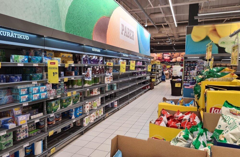 Магазины успокаивают и взывают к разуму: опустевшие полки будут заполнены! Продуктов хватает!