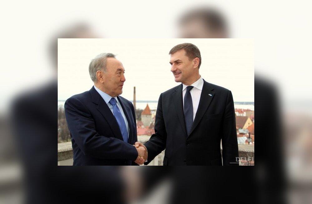 Peaminister: Eesti ja Kasahstani koostöö olulisemad valdkonnad on transiit, IT ja energeetika
